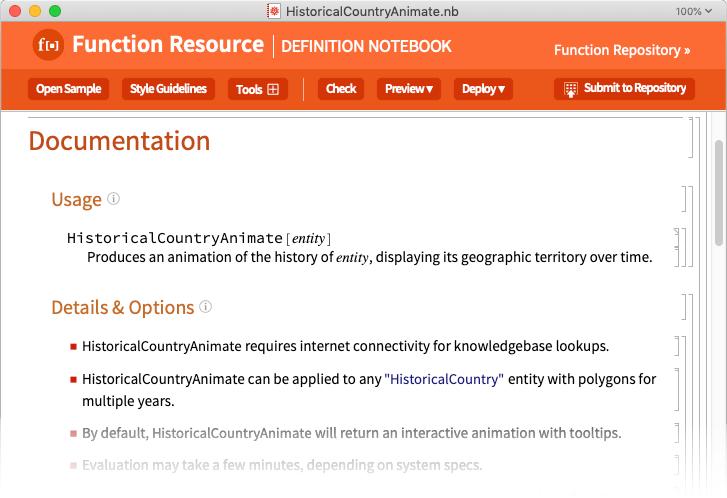 Function documentation