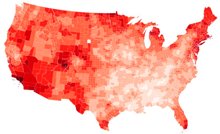 US Climate Change at the County Level
