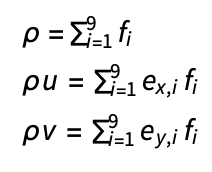 Density and velocity equations