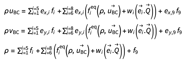 Velocity and density equations