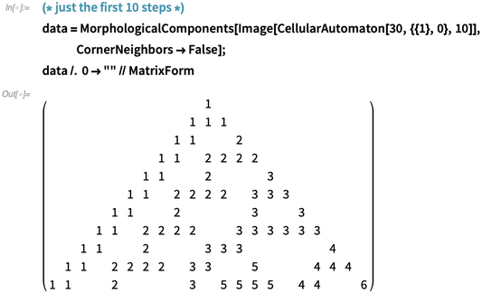 data = MorphologicalComponents
