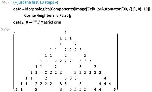 data = MorphologicalComponents