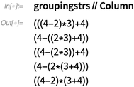 groupingstrs // Column