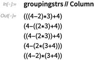 groupingstrs // Column