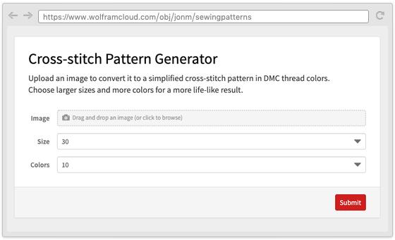 Cross-stitch pattern generator