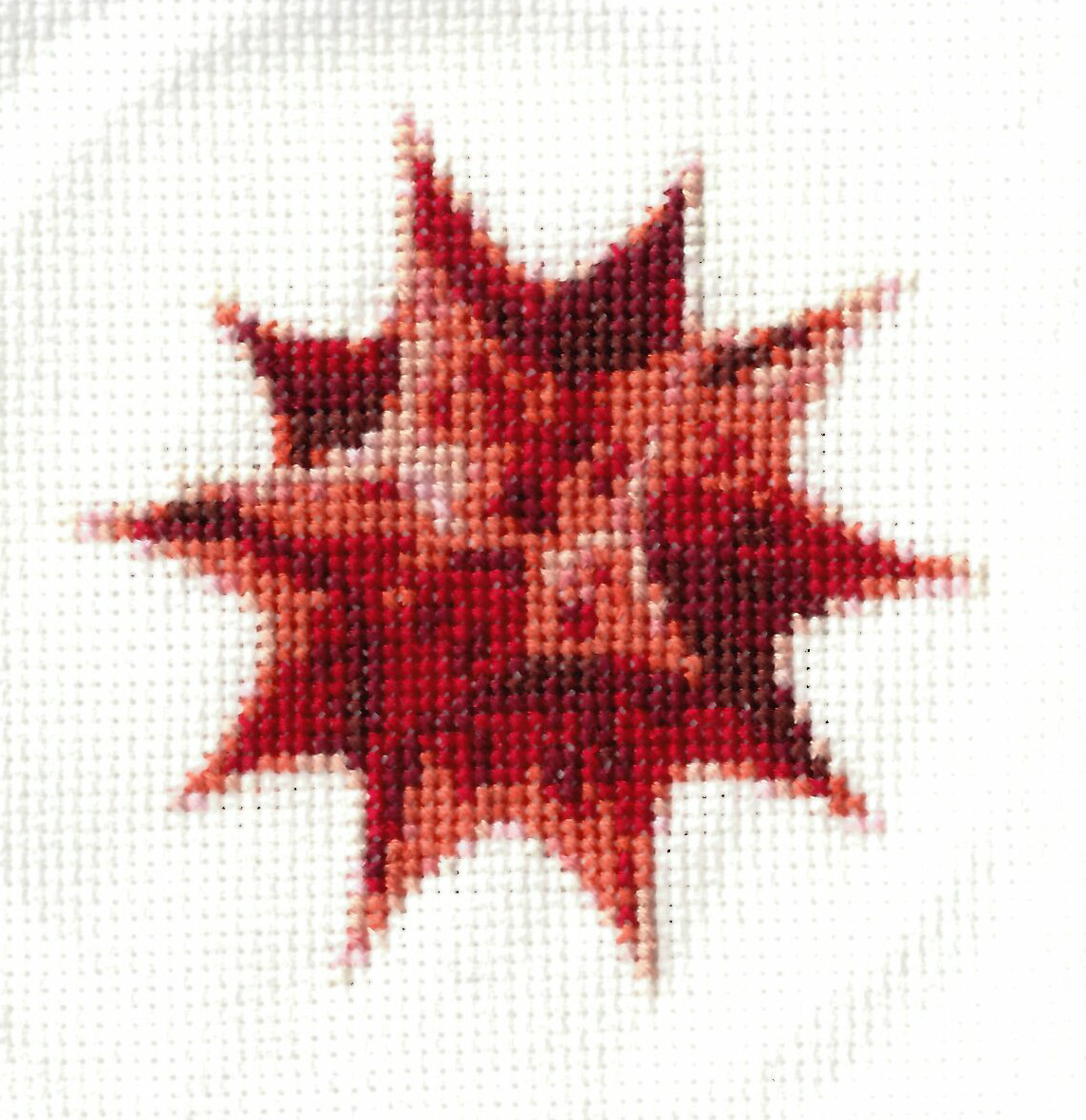 Completed Spikey cross-stitch