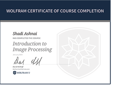 Wolfram Certificate of Course Completion