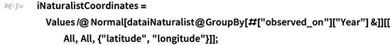 iNaturalistCoordinates = Values /@ Normal