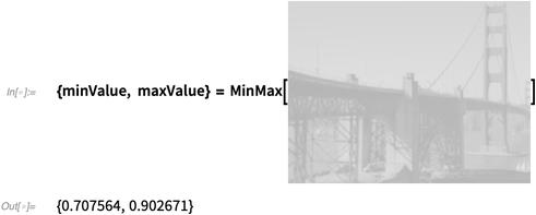 {minValue, maxValue} = MinMax