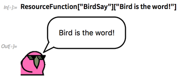 """Bird is the word!"""