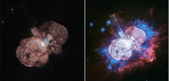 Hubble Space Telescope images of Eta Carinae in 1995 and 2019