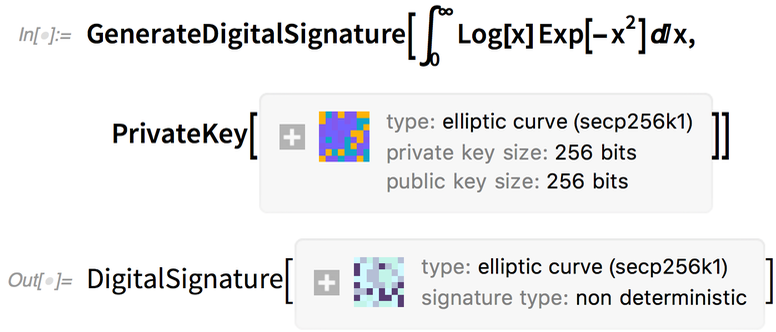 GenerateDigitalSignature