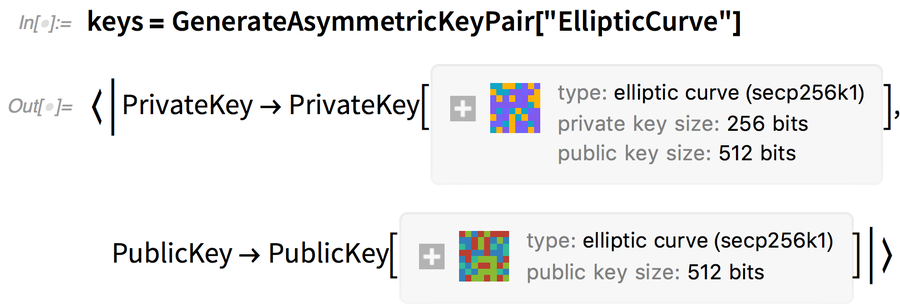 keys = GenerateAsymmetricKeyPair