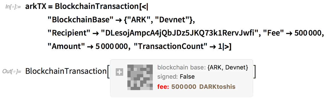 arkTX = BlockchainTransaction