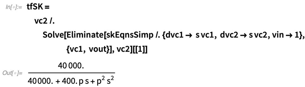 tfSK = vc2 /.    Solve