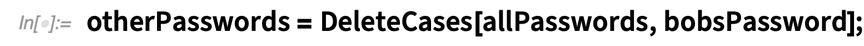 otherPasswords = DeleteCases