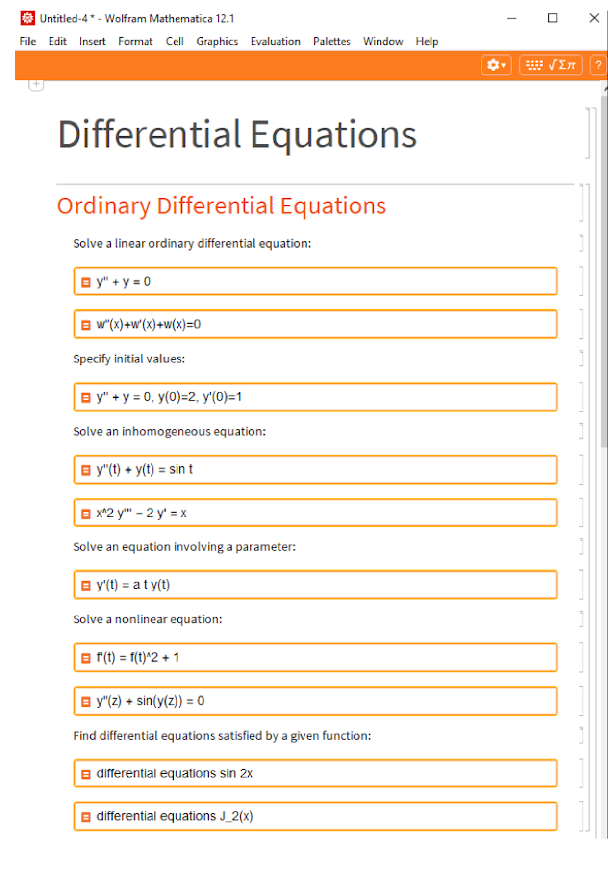 Differential equations notebook