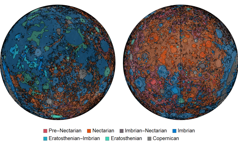 Visualizing the Unified Geologic Map of the Moon from the USGS