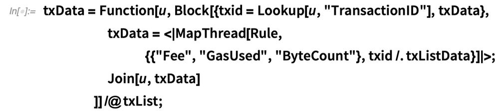 txData = Function