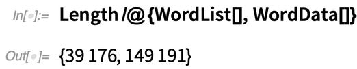 Length /@ {WordList