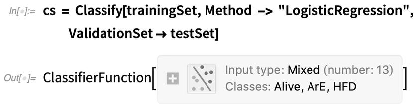 cs = Classify