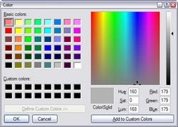 Color-selector window