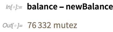 balance - newBalance