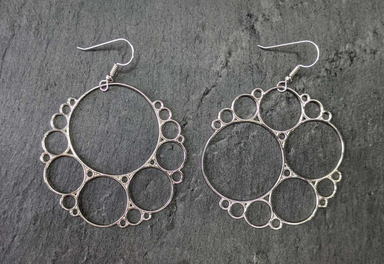 Bubbly Apollonian earrings