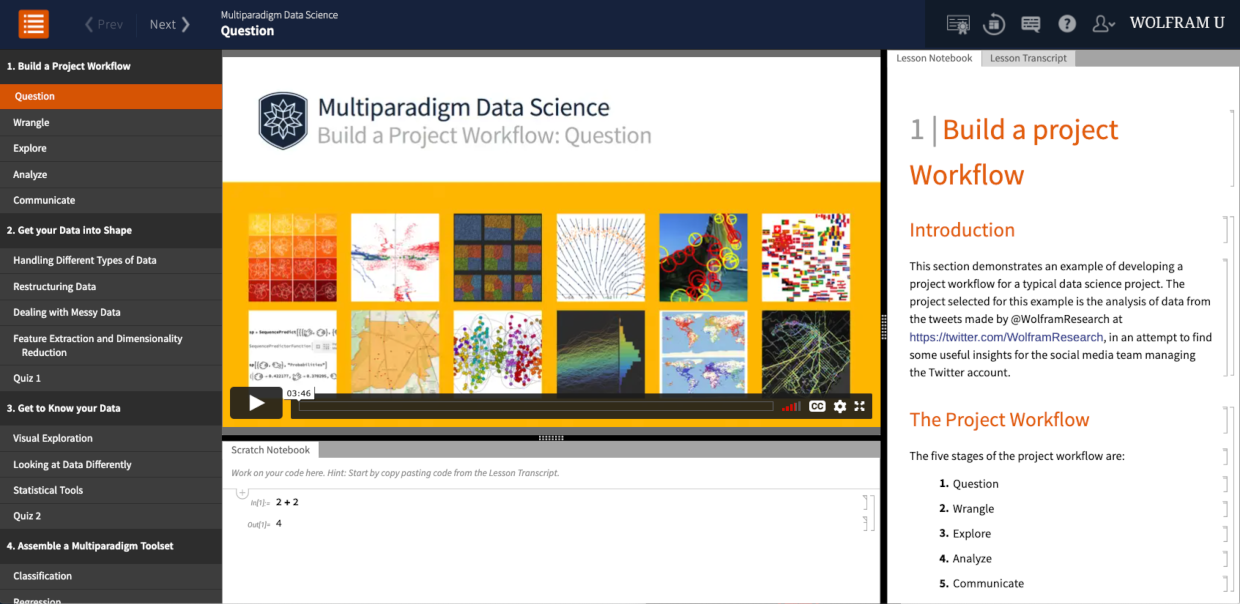 Multiparadigm Data Science interactive course
