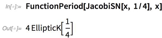 FunctionPeriod[JacobiSN[x, 1/4], x]
