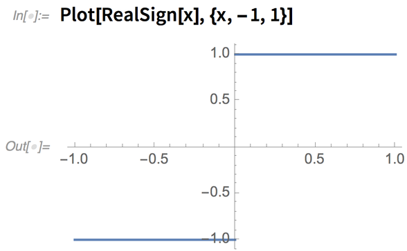 Plot[RealSign[x], {x, -1, 1}]