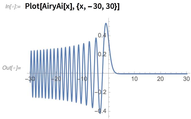 Plot[AiryAi[x], {x, -30, 30}]