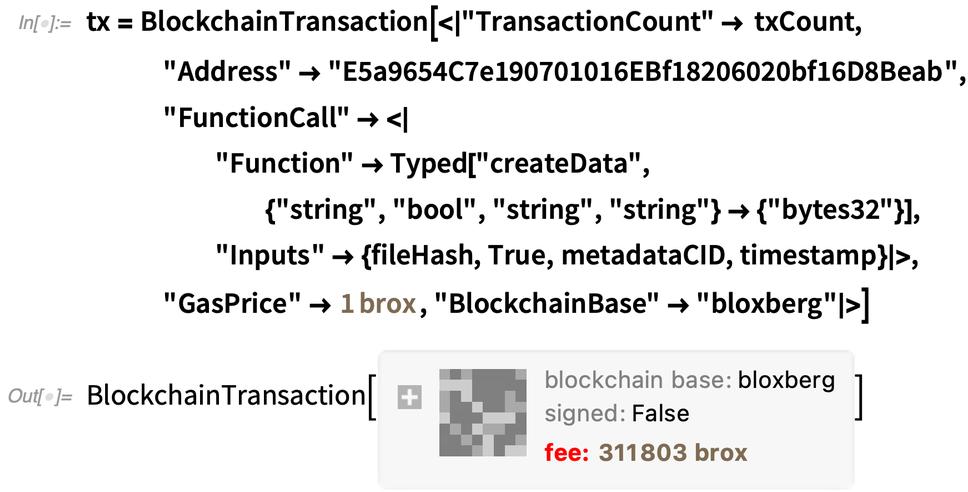tx = BlockchainTransaction