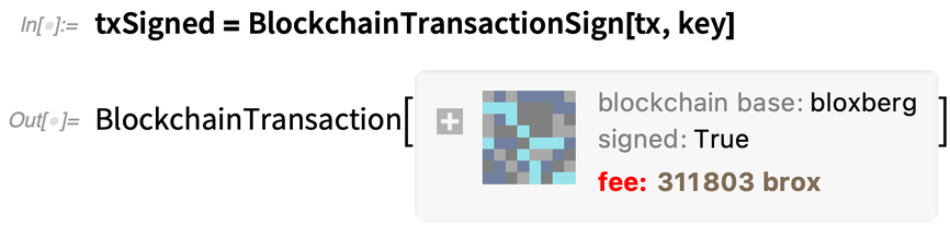 txSigned = BlockchainTransactionSign