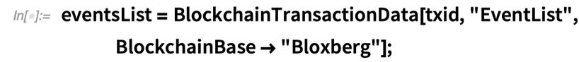 eventsList =    BlockchainTransactionData