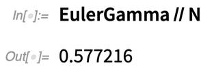 EulerGamma // N