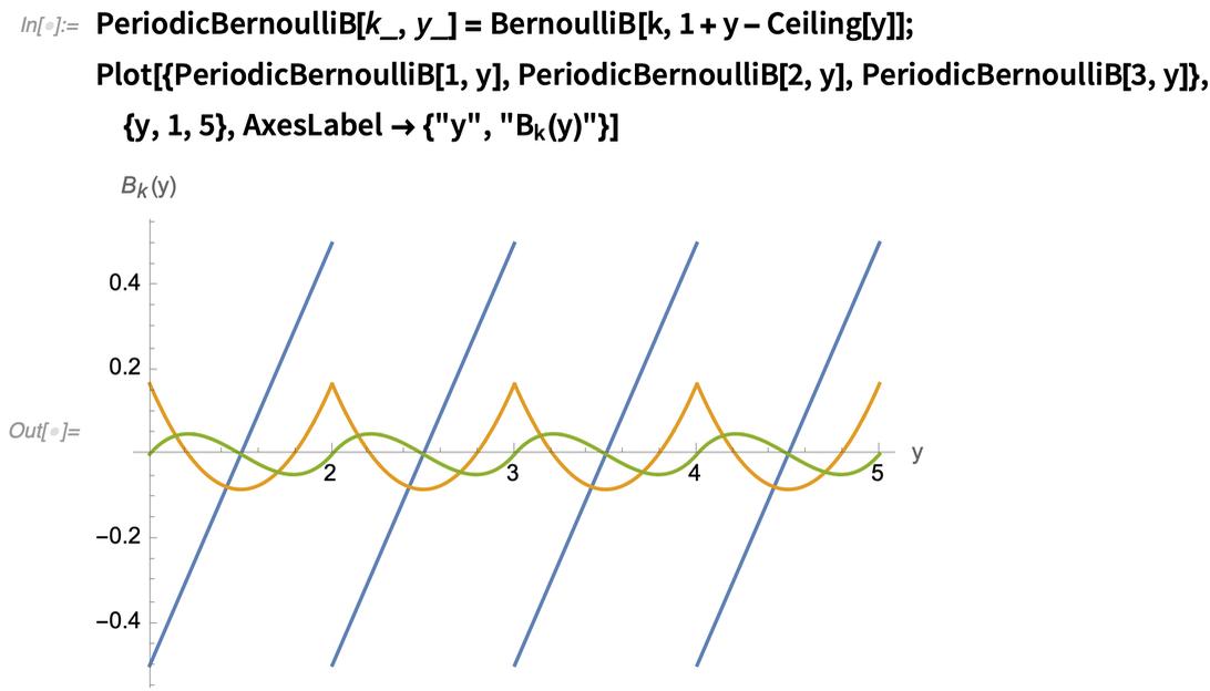 PeriodicBernoulliB