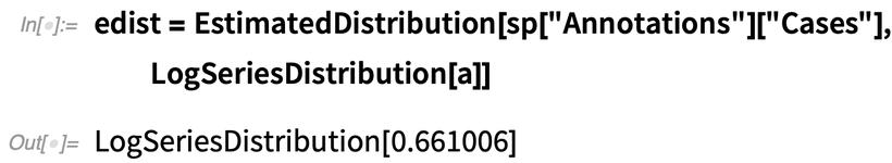 edist = EstimatedDistribution
