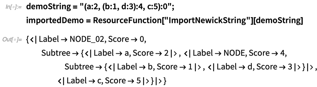 """demoString = """"(a:2, (b:1, d:3):4, c:5):0"""";importedDemo = ResourceFunction"""