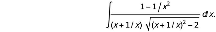 Algebraic integral