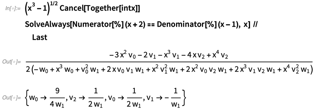 Solve for undetermined coefficients