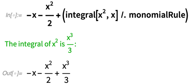 -x - x^2/2 + (integral