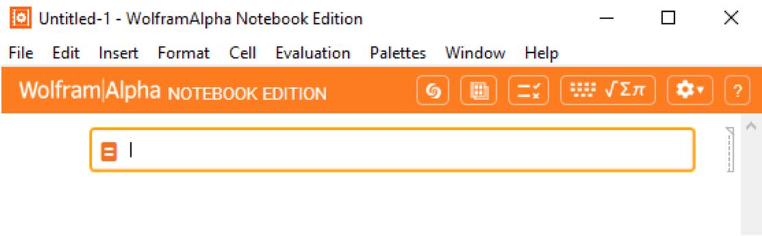 Wolfram|Alpha Notebook Edition toolbar