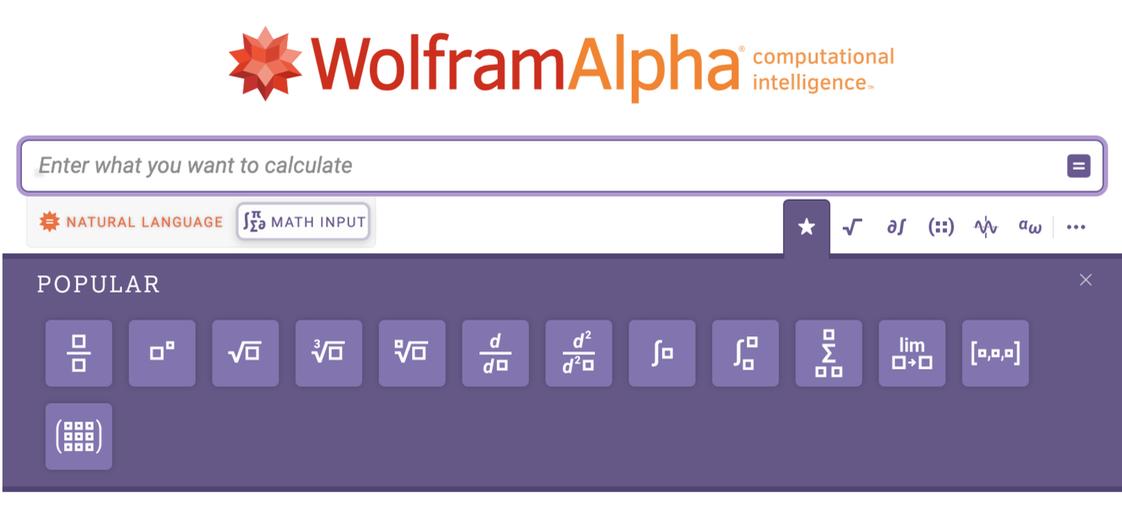 Math Input templates