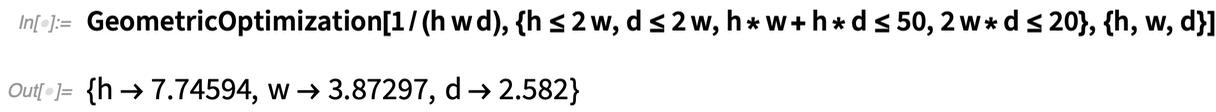 GeometricOptimization