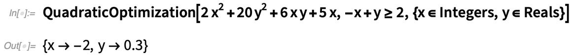 QuadraticOptimization