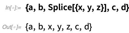 {a, b, Splice