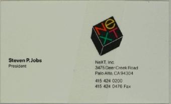 Steve Jobs business card