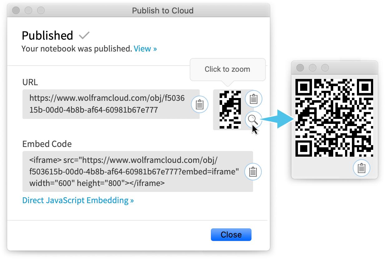 Publish to cloud