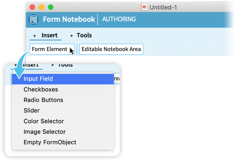 Form notebooks